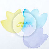 Abstract Watercolor Blue and Yellow Flowers Background Royalty Free Stock Photo