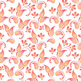 Abstract watercolor branch 2. Floral pattern. Floral pattern. Seamless background with hand-drawn elements Royalty Free Stock Image