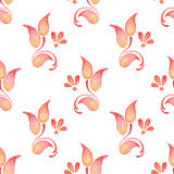 Abstract watercolor branch 2. Floral pattern. Floral pattern. Seamless background with hand-drawn elements Royalty Free Stock Photography