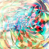 Graphic abstract light waves Stock Photo