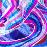 Abstract watercolor bright background with different wave elements. Abstract watercolor bright background with different colorful wave elements stock illustration