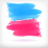 Abstract watercolor brush design elements Stock Photos