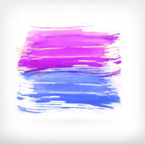 Abstract watercolor brush design elements Royalty Free Stock Images