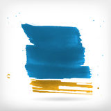 Abstract watercolor brush design elements Royalty Free Stock Image