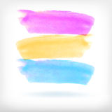 Abstract watercolor brush design elements Stock Image