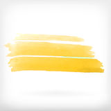 Abstract watercolor brush design elements Royalty Free Stock Photos