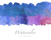 Abstract watercolor brush strokes painted background. stock images