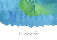 Abstract watercolor brush strokes painted background. Royalty Free Stock Photos