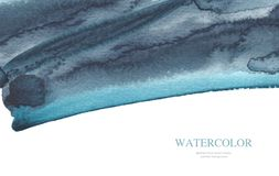 Abstract watercolor brush strokes painted background. Isolated. royalty free stock photography
