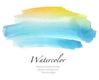 Abstract watercolor brush strokes painted background. Texture pa. Per Stock Image
