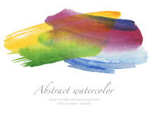 Abstract watercolor brush strokes painted background. Texture pa. Per. isolated Stock Photos