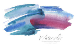 Abstract watercolor brush strokes painted background. Texture pa. Per. isolated Royalty Free Stock Photography