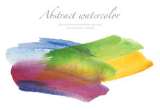 Abstract watercolor brush strokes painted background. Texture pa Stock Photography