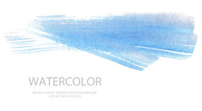 Abstract watercolor brush strokes painted background. Texture pa. Per. Isolated Royalty Free Stock Photos