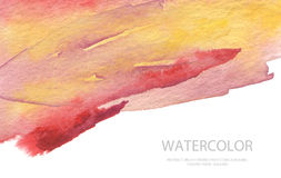 Abstract watercolor brush strokes painted background. Texture pa Stock Photos