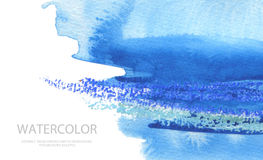 Abstract watercolor brush strokes painted background. Texture pa Royalty Free Stock Images