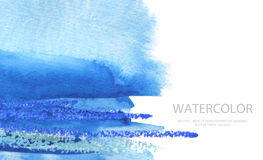 Abstract watercolor brush strokes painted background. Texture pa Stock Images