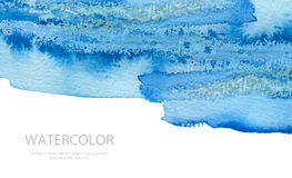 Abstract watercolor brush strokes painted background. Texture pa Royalty Free Stock Image