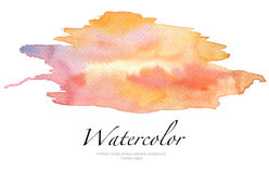 Abstract watercolor brush strokes painted background. Texture paper Stock Photo