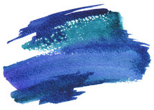 Abstract watercolor brush strokes painted background. stock photography