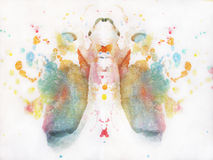 Abstract watercolor butterfly drawing Stock Photography