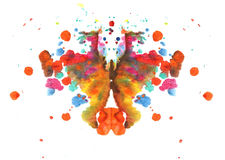 Abstract watercolor butterfly drawing. Illustration stains and splatters Stock Photography