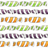 Abstract watercolor candy seamless pattern on the white background Royalty Free Stock Photo