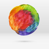 Abstract watercolor circle, vector Royalty Free Stock Photo