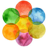 Abstract watercolor circle painted background Stock Photo