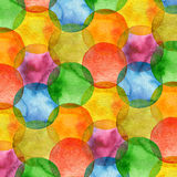 Abstract watercolor circle painted background Stock Photography