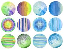 Abstract watercolor circle painted background. Texture paper. Is. Abstract acrylic and watercolor circle painted background. Texture paper. Isolated. Collection Stock Image