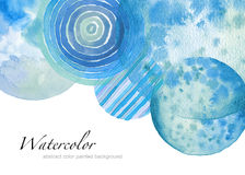 Abstract watercolor circle painted background. Texture paper. Is. Abstract acrylic and watercolor circle painted background. Texture paper. Isolated. Collection Royalty Free Stock Photography