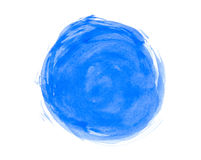 Abstract watercolor circle. On white background Vector Illustration