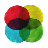 Abstract watercolor circles painted background Royalty Free Stock Image