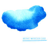 Abstract watercolor cloud with paint strips Royalty Free Stock Image