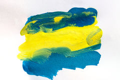 Abstract watercolor color painting Royalty Free Stock Photography