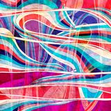 Abstract wavy elements background. Abstract watercolor colored background with wavy elements Royalty Free Stock Photos
