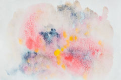 Abstract watercolor colorful background painting with spray, spots, splashes. Hand-drawn background, paper grain texture. Abstract watercolor bright colorful royalty free stock photo