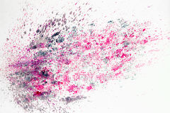 Abstract watercolor colorful background painting with spray, spots, splashes. Hand drawn on paper grain texture. For Royalty Free Stock Photos