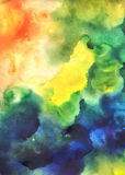 Abstract watercolor colorful painting Stock Photo
