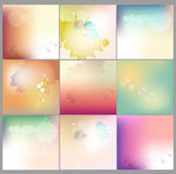 Abstract watercolor concept vector blurred background collection. For Web and Mobile Applications. Abstract watercolor minimal concept vector blurred background Stock Illustration