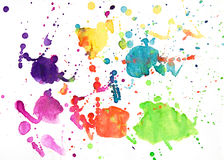 Abstract watercolor drawing Royalty Free Stock Photos