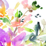 Abstract watercolor flowers. royalty free illustration