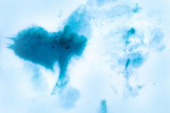 Abstract watercolor flowing and mixing in milk texture. stock illustration