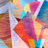 Abstract Watercolor Geometric Background Royalty Free Stock Image