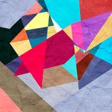 Abstract watercolor geometric background Stock Photography