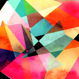 Abstract watercolor geometric background Stock Photos