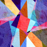 Abstract watercolor geometric background Royalty Free Stock Photography