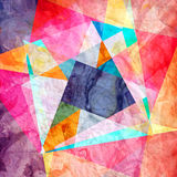 Abstract watercolor geometric background Stock Image
