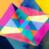 Abstract watercolor geometric background Stock Photo